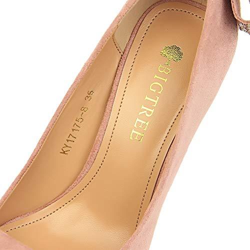 Rose Femme Sandales SDC05870 AdeeSu Compensées WqIRng