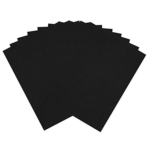 Adfun 10 Sticky Backed Felt Sheets Merino Wool Blend Felt Sheets Craft and Sewing,1520cm - Squares Sticky Back