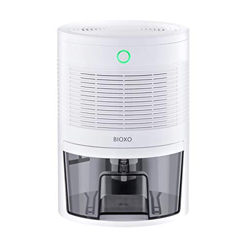 Bioxo Ultra-Quiet Mini Dehumidifier, Portable Dehumidifier for 1300 Cubic feet (172 sq ft) of a Small Space, Safe Dehumidifiers for Basements, Bathrooms, Wardrobes, Bookcases, Filing Cabinets, etc.