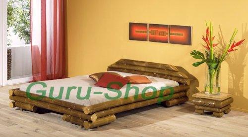 Bambusbett `Maui` in vielen Größen / Möbel und Kolonialstilmöbel/ Variante: Größe: 200*200 cm