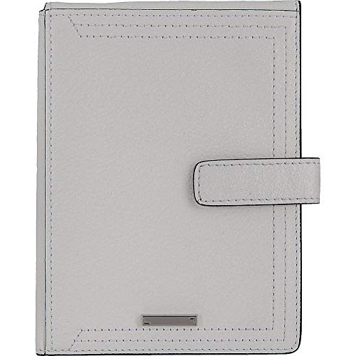 Lodis Accessories Women's Stephanie RFID Under Lock & Key Passport Wallet w/Ticket Flap White Wallets ()