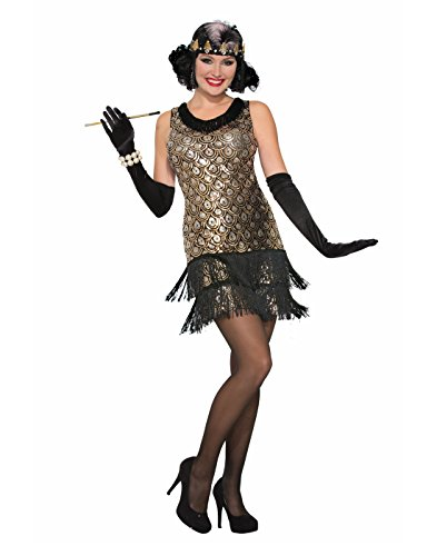 Forum Women's Roaring 20's Flapper Costume, Multi/Color, Medium/Large