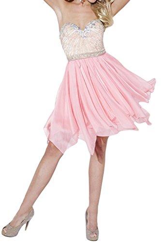 Promgirl House Damen Reizvoll Rosa ALinie HerzAusschnitt Ballkleider  Cocktail Abendkleider Kurz
