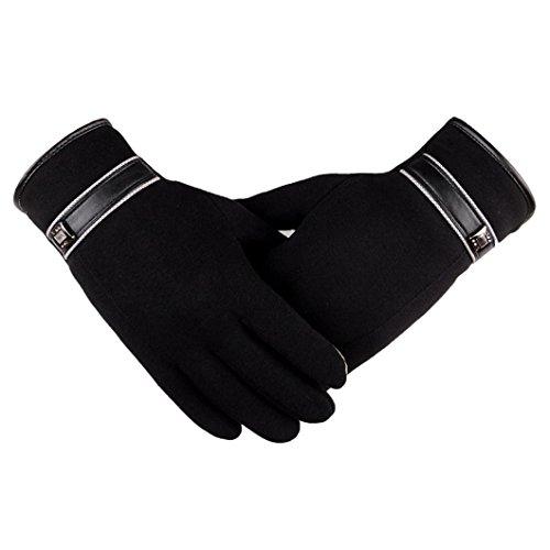 Blackobe Men Thermal Winter Motorcycle Ski Snow Snowboard Gloves (Black)