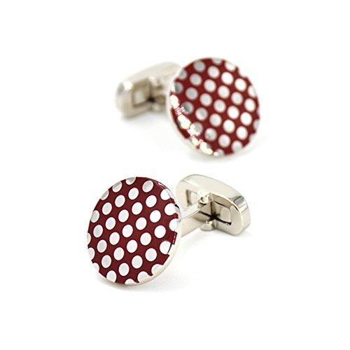 mrvan-polka-dots-cufflinks-enamel-red-round-wave-cuff-links-set-wedding-business-mens-jewelry-gift