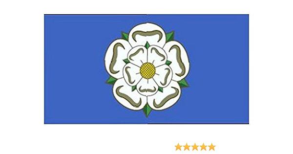 YORKSHIRE Rose 6inchx 3inch  Satinette Table Flag