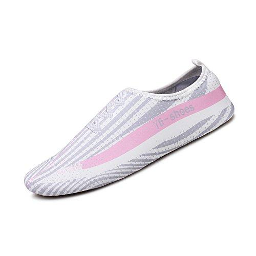 Polvo zapatillas zapatos transpirable de y playa vadeando secado la piscina luz palpación de bajo rápido ceniza Yoga de del las natación Lucdespo zapatas adultos amantes zapatos de de agua qCxv1nFwP