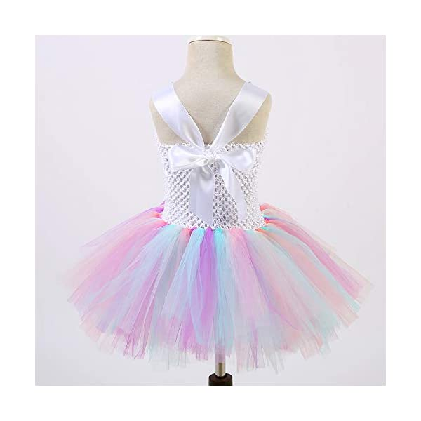 Unicorn Tutu Dress, Unicorn Birthday Outfit, Unicorn Headband, Birthday Dress 7