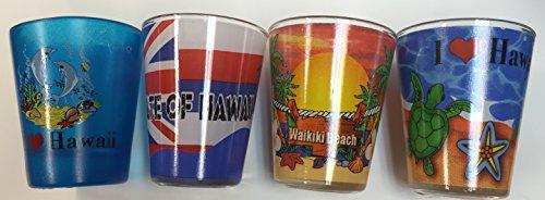 Shot Glass Set Of 4 Pcs Hawaiian - Hawaiian Shot Glass Tiki
