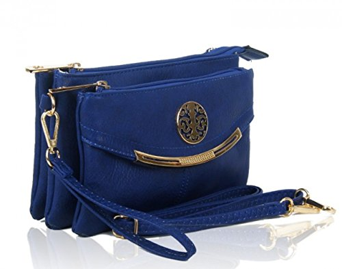 LeahWard® KleinSize Kreuzbeutel For Damen nett Damen Celeb Style Schultertasche Handtaschen 388 423 Schwarz Taschen EkABnM