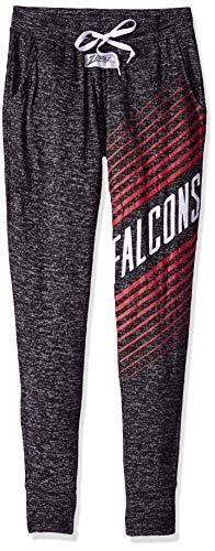 Zubaz NFL Atlanta Falcons Female Joggers, X Small, Gray
