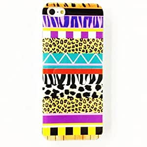 LIMME Zebra Leopard Stripe Pattern Plastic Hard Case for iPhone 5/5S