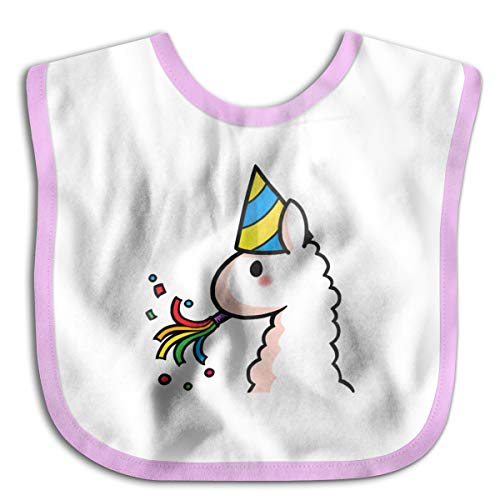 Wonalissy Kid's Boys and Girls Birthday Llama Water Resistant Baby Drool Bibs One Size ()