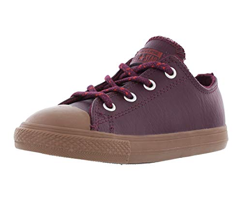 Converse Kids Chuck Taylor All Star Leather Thermal - Ox Infant/Toddler Dark Sangria/Terra Red Boys - Sangria Look Leather