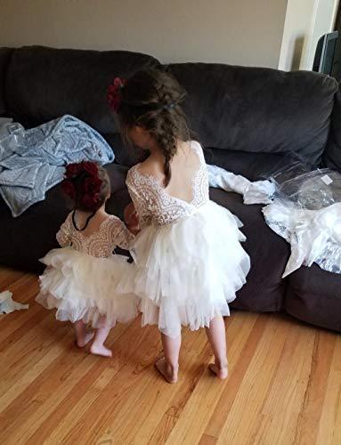 42d5fcb4778 Topmaker Backless A-line Lace Back Flower Girl Dress