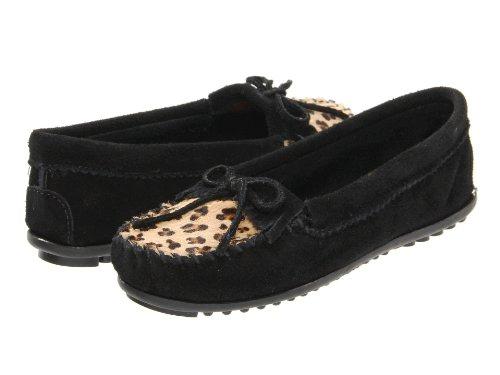 Minnetonka Frauen Leopard Kilty Mokassin Leopard Schwarz
