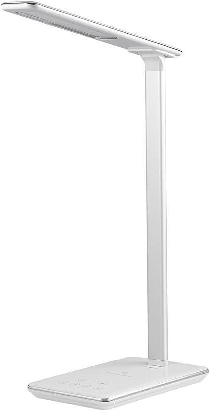 Noir Lampe de table /à 3 niveaux de luminosit/é Lampe de bureau r/églable Lampe tactile 1000mA