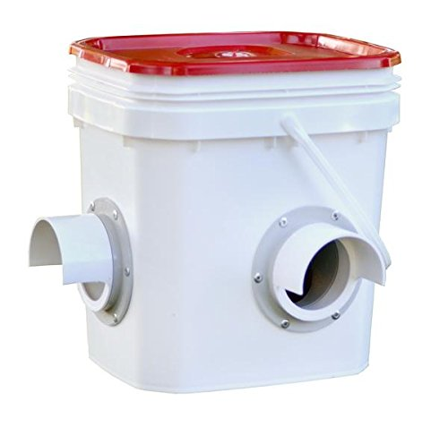 Chicken Feeder-Holds 20 Pounds-Pellets-Crumbles-Grain in Bucket - For 21st Century Chicken Owners - Inside or Outside of Coop - Use With Nipple Waterer (2 Feed Ports -Corner Placement (4-6 Hens)) (Bantam Chicken Coop compare prices)