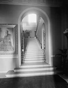 Photograph of WHITE HOUSE. STAIRCASE Vintage Black & White Photograph a8