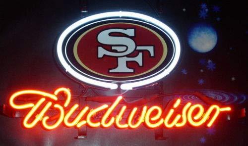 GreeneerG New San Francisco 49ers Budweiser Bar Beer Light Lamp Neon Sign 14