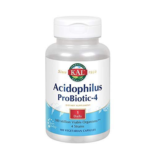 (KAL Acidophilus 500 Million Viable Organisms Probiotic-4 Capsules, 100 Count)