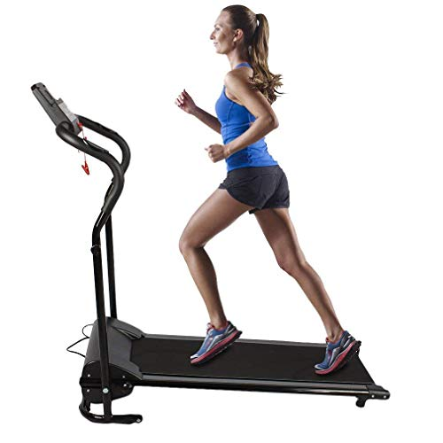 Water-chestnut Folding Electric Treadmill Running Machine 500W Running Training Fitness Home Exercise Equipments Black