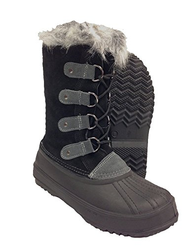 Itasca Meghan Womens Black Leather Warm Winter Fashion Snow Boots Black CfBZ0sj