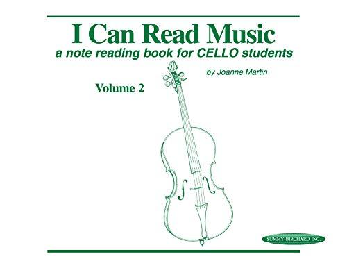 I Can Read Music, Vol 2: A note reading book for CELLO - Volume Cello 1