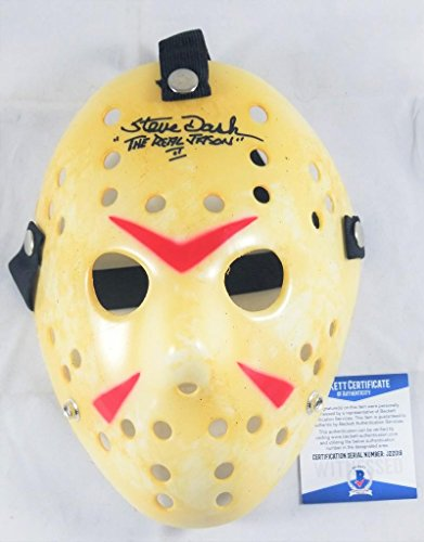 STEVE DASH SIGNED JASON VOORHEES MASK FRIDAY THE 13TH 2 BECKETT BAS COA - Usps Time Day Priority Mail 2