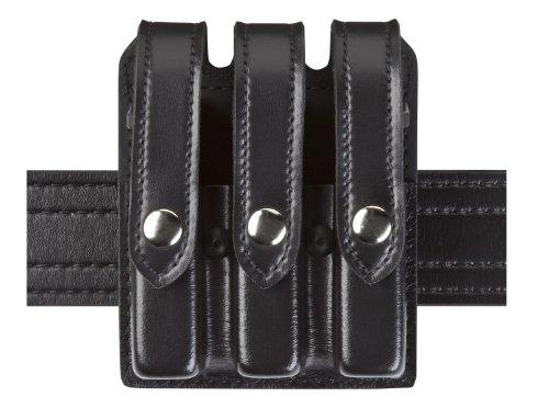 Safariland Duty Gear Glock 17, 22, 34, 35 Flat Top Slimline Triple Magazine Pouch (High Gloss Black)