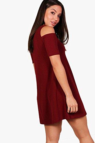 Damen Beere Lizzy Ausgestelltes Kleid mit ausgeschnittenen Schultern ...