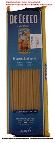 DE CECCO Bucatini N° 15 12 x 500g = 6000g / Teigwaren aus Hartweizengrieß