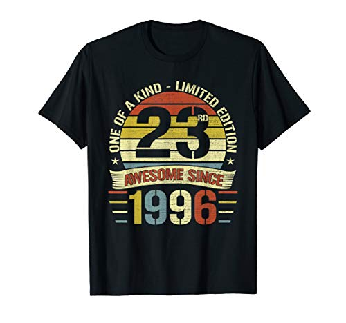 Retro Vintage Awesome 1996 23rd Birthday Gifts 23 Years Old T-Shirt