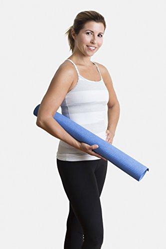 "Hot Yoga Microfiber Mat Towel - Non Slip, Both Sides Grip - by Yogazorb - 25""x72"" (Royal)"