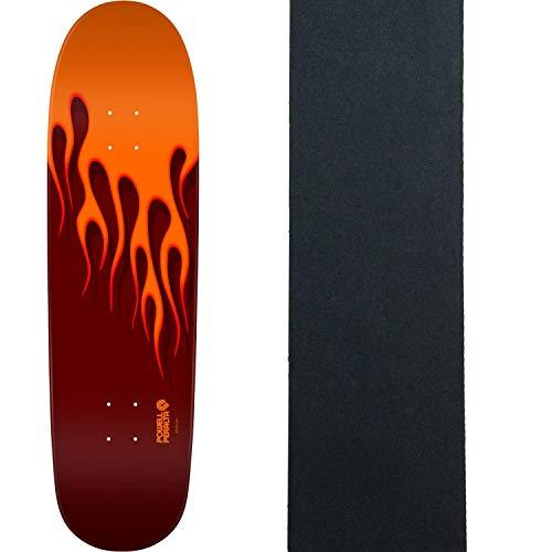 "Powell-Peralta Skateboard Deck Hot Rod Flames Orange/Red 9.375"" x 33.875"" + Grip"