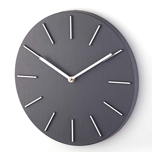 Bloom Flower 12 Inch Modern Decorative Wall Clock Silent for Living Room, Office, Classroom