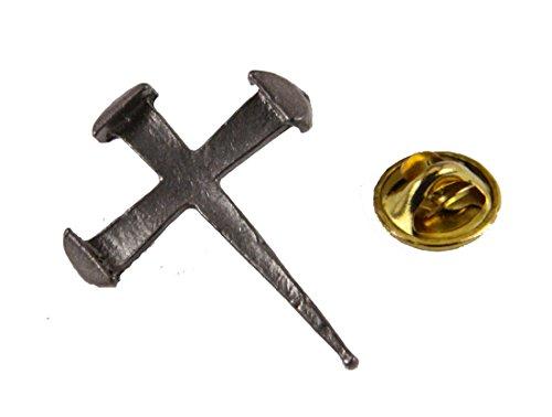 6030340 Rugged Cross Nail Lapel Pin Crucifix Brooch Tie Tack Jesus