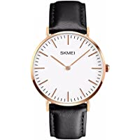Men's Casual Classic Stainless Steel Case Unique Quartz Analog Waterproof Dress Wrist Business Watch With Black...