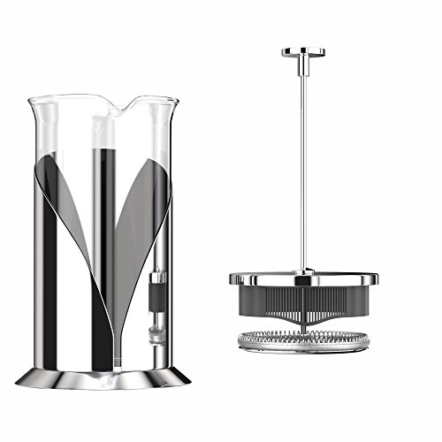 French Press Coffee Maker (8 cup, 34 oz) With 4 Level Filtration System, 304 Grade Stainless Steel, Heat Resistant Borosilicate Glass by Cafe Du Chateau by Cafe Du Chateau (Image #3)