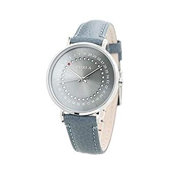 1543d0754c33 [フルラ]FURLA 腕時計 ジャーダ デイト GIADA DATE 36mm グレーシルバー×ブルーグレー 革