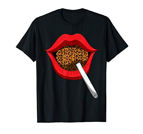 Red And Cheetah Outfits (Lollipop Animal Print Lips Cheetah Lolly Red Kiss Leopard)