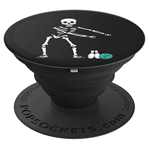 Flossing Skeleton Funny Bowling Lover Floss Dance - PopSockets Grip and Stand for Phones and Tablets -