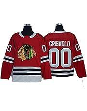 Yajun Griswold #00 Chicago Blackhawks Camisetas Hockey Jersey sobre Hielo NHL Hombre Ropa Mujer T-Shirt de Manga Larga