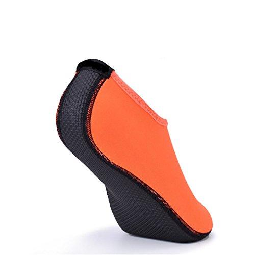 Sandalen Waterpark Femme Chaussure Strand für Sommer Schuhe Slip Aqua Folien Orange On Wasser Hausschuhe Frauen 7OTxw5Tq