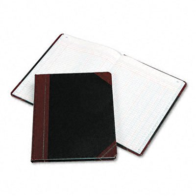 Boorum & Pease 2115012 Columnar Accounting Book, 12 Column, Black Cover, 150 Pages, 8 1/8 x 10 3/8