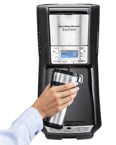 Hamilton Beach 12-Cup Coffee Maker Programmable Brewstation Summit Dispensing Coffee Machine (48464)