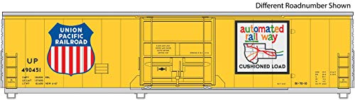 50' FGE Insulated Boxcar - Ready to Run -- Union Pacific(R) 490604 (Armour Yellow, Large Shield, Automated Railway Logo