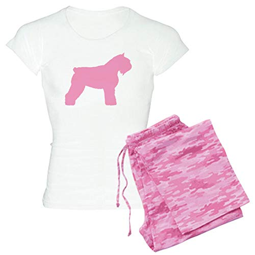 CafePress Pink Bouvier Des Flandres Womens Novelty Cotton Pajama Set, Comfortable PJ Sleepwear