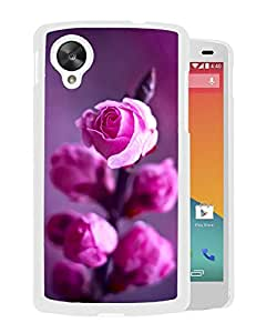 New Beautiful Custom Designed Cover Case For Google Nexus 5 With Pink Roses Branch (2) Phone Case