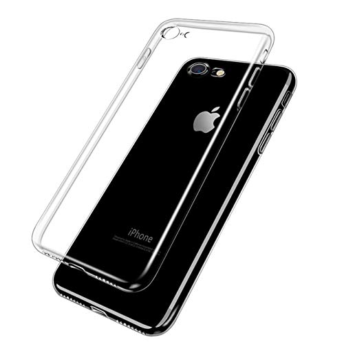 beegod iPhone Case Anti-Scratch Tempered Glass Cover Anti-Scratch & Fingerprint TPU Soft Silicone Bumper Reinforced Corners Shock Absorption HD Clear Back